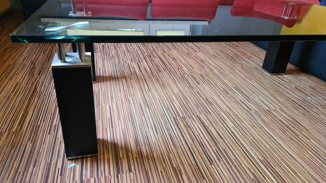 Stół ława szklany hartowane czarny