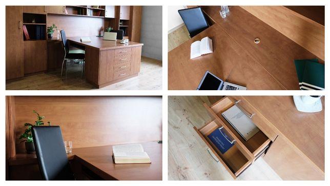Elegancki zestaw mebli do biura, pokoju, stan idealny, FV23%