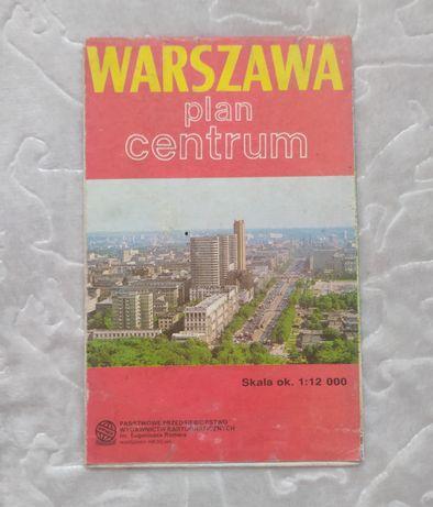 Warszawa plan centrum z 1988 r