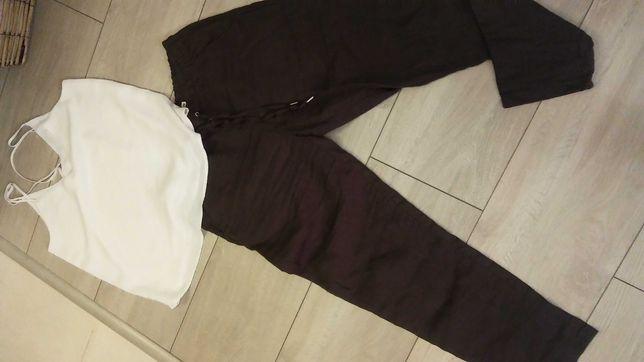 Letnie spodnie 100% len + bluzka