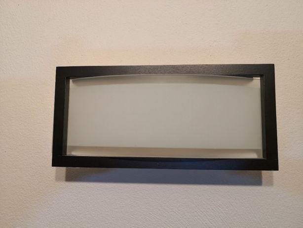 Lampa Kinkiet drewniana ramka + szkło Polecam