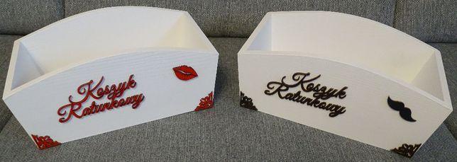 Koszyki ratunkowe - zestaw dwóch skrzynek / koszyków na wesele
