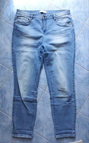 C&A (40/L) luźne spodnie jeansy boyfriend