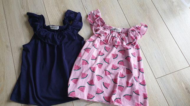 Letnie bluzeczki 110/116 H&M
