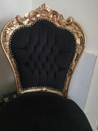 Fotel krzesło tron barok salon przedpokój kuchnia sypialnia