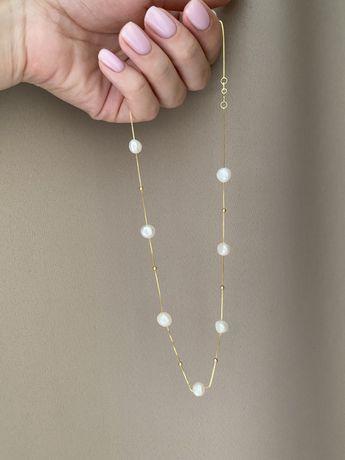 Ожерелье с плавающим жемчугом