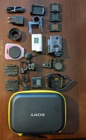 Kamera sportowa Sony FDR X3000 bogaty zestaw.