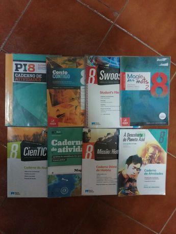 Livros ou cadernos de atividades do 8° ano