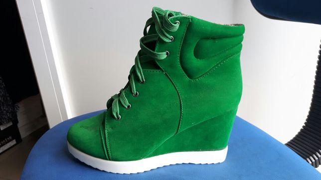 nowe buty ocieplane na koturnie