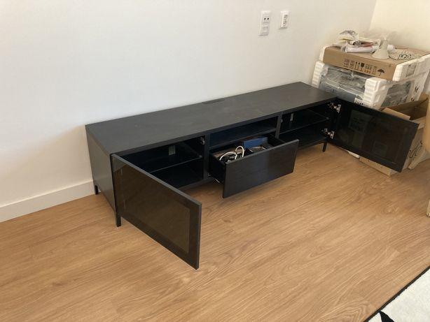 Moveis TV IKEA Bestas PRETO (conjunto 2 modulos) como Novas.