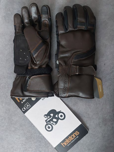Skórzane rękawice na motor