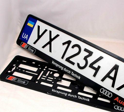 Рамки для авто номера AUDI quattro, s line