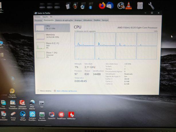 PC Gaming  + teclado e rato 8 nucleos + windows 10 Pro