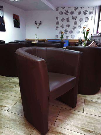 Fotel barowy brązowy