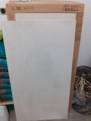 Płytki Opoczno, gres szkliwiony GRAVA white mat