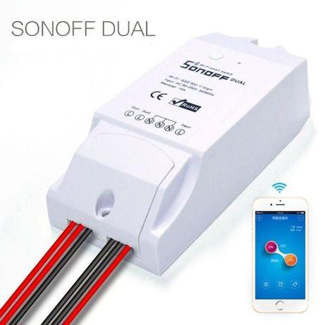 18.05.21 Sonoff Dual R2 двухканальное WiFI реле Умный дом smart home.