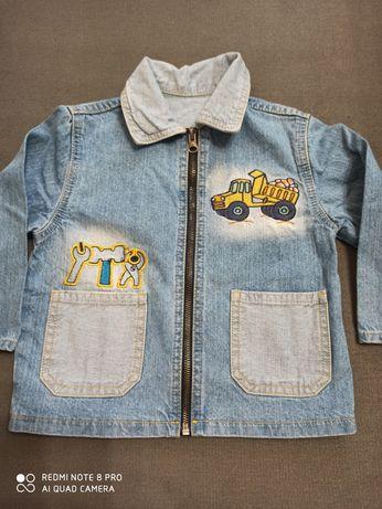 Джинсовый пиджак курточка на мальчика