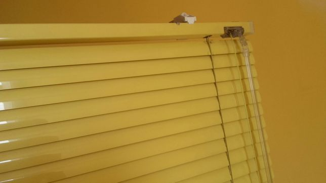 Żaluzje 4szt 147,5x66cm + 2szt na okna balkonowe, żółte