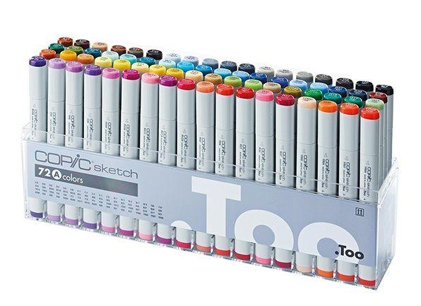 Набор двухсторонних маркеров Copic Sketch Set A 72 цветов