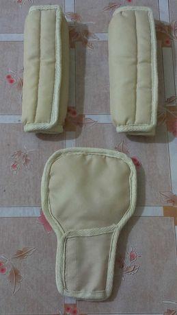 НОВИЕ накладки на ремни безопасности для коляски( 2х сторонние)