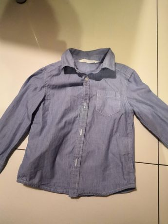Koszula niebieska h&m rozm 98