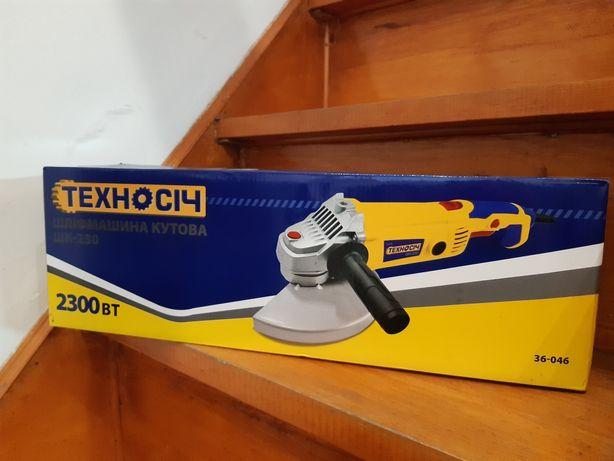 Шлифмашина угловая, ШК-230 2300Вт Техносіч (36-046)