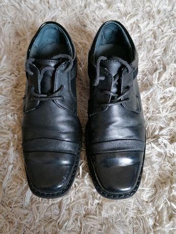 Buty, pantofle dziecięce, komunia, eleganckie, czarne