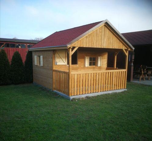 Domek dla dziecka, domek drewniany, zadaszenie