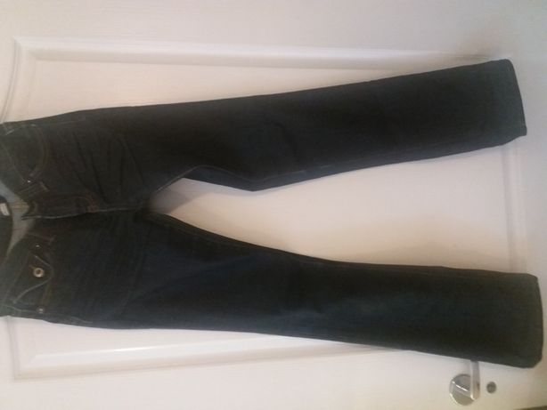 Spodnie jeansy granatowe 44