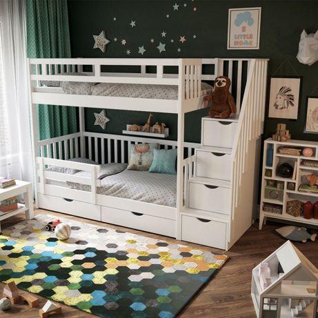 кровать двухъярусная Жасмин 5, детская двухъярусная кровать, ліжко
