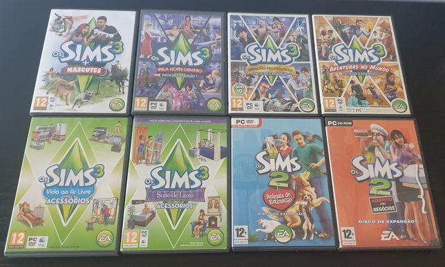 The sims 3 e packs de expansão
