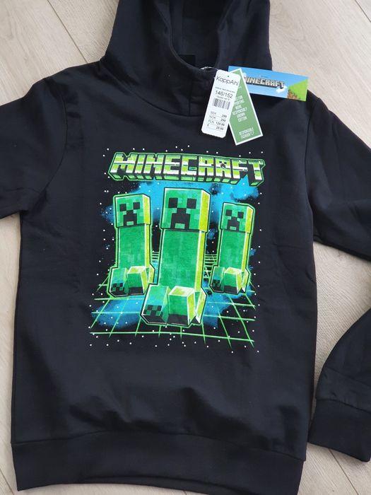 Bluza czarna z kapturem Kappahl Minecraft 146/152 metki Tczew - image 1