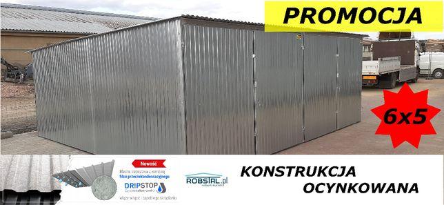 DWUSTANOWISKOWY garaż blaszany 6x5 ocynkowany, Producent