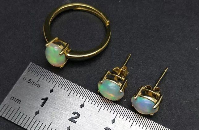 Kolczyki srebrne z opalem Etiopskim