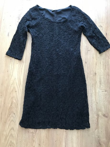 Czarna sukienka koronkowa koronki 34/36 obcisła Yessica