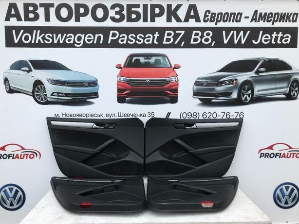 Дверні карти Volkswagen Passat B7-B8 USA чорні-бежеві-сірі