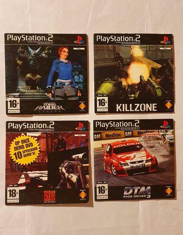 Conjunto 4 Demos Playstation 2 ps2 consola demo #2