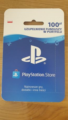 Playstation Store 100zl doladowanie PS4 PS5