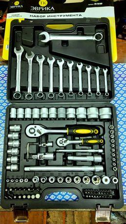 Набор головок, инструментов, ключей Эврика 100 элементов