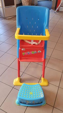 Krzesełko do karmienia z podnóżkiem