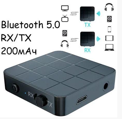 KN321 Bluetooth 5.0 мини аудио приемник передатчик звука 200мАч