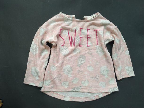 Young Dimension lekkie sweter sweterek Sweet Ciasteczka 92cm