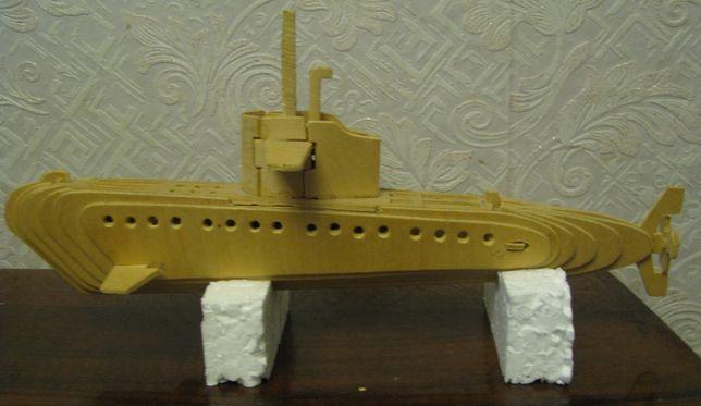 Подводная лодка субмарина фанера конструктор модель