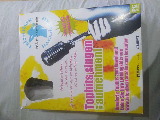 Zestaw karaoke (mikrofon + płyta CD) 12 piosenek