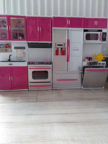 Kuchnia dla lalki Barbie z wyposażeniem