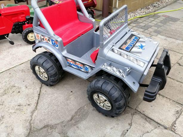 Samochód na akumulator duży dwa silniki 12 V jeep Wrangler
