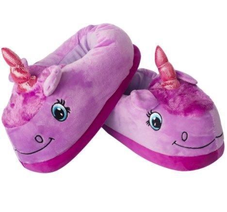 Тапочки мягкие, домашние Кигуруми Единорог фиолетовый L (Размер 38-43