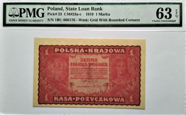 1 marka 1919 - I Serja BU