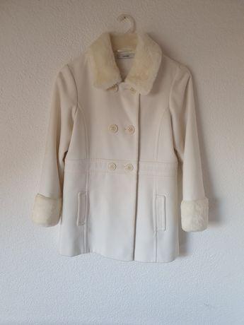 Pięknh biały płaszczyk dziewczęcy 146-152