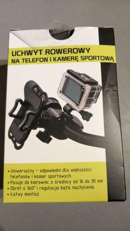 Uchwyt rowerowy na telefon i kamerę sportową Solidny